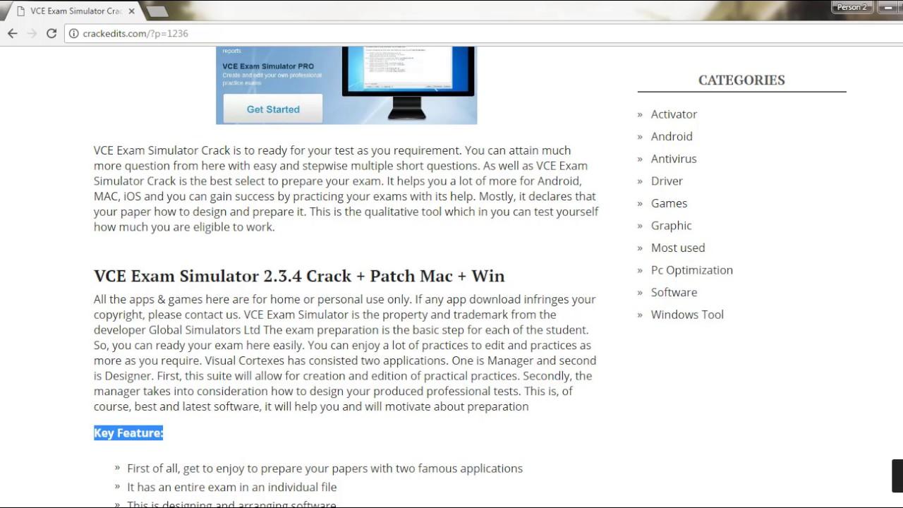 VCE Exam Simulator 2.7 Crack + Serial Key Torrent Download